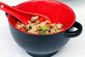 Lemony Rice and Lentil Salad