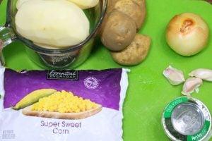 Potato Corn Chowder Ingredients