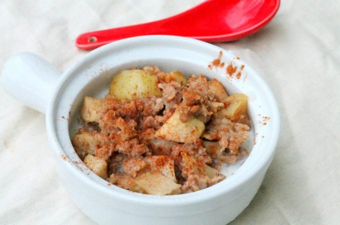 Kids Cooking Apple and Oats Rice Cooker