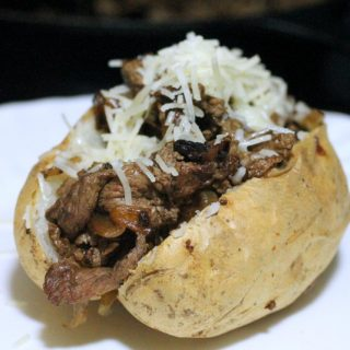 Kids Cooking: Philly Cheese Steak Loaded Baked Potato Recipe