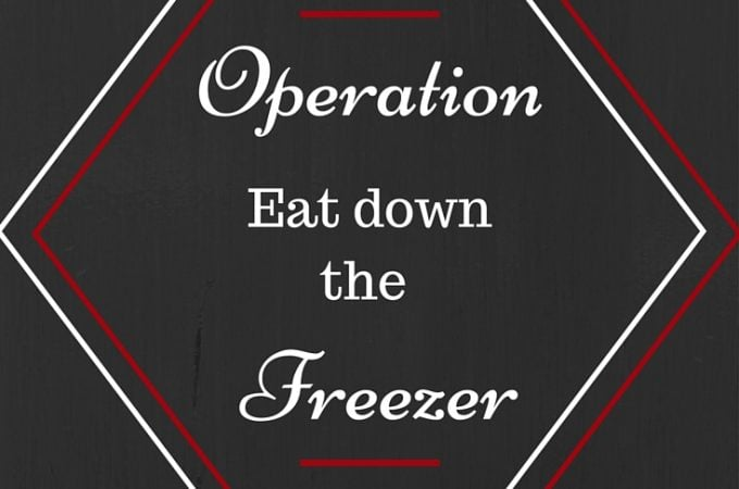 Operation Eat Down the Freezer
