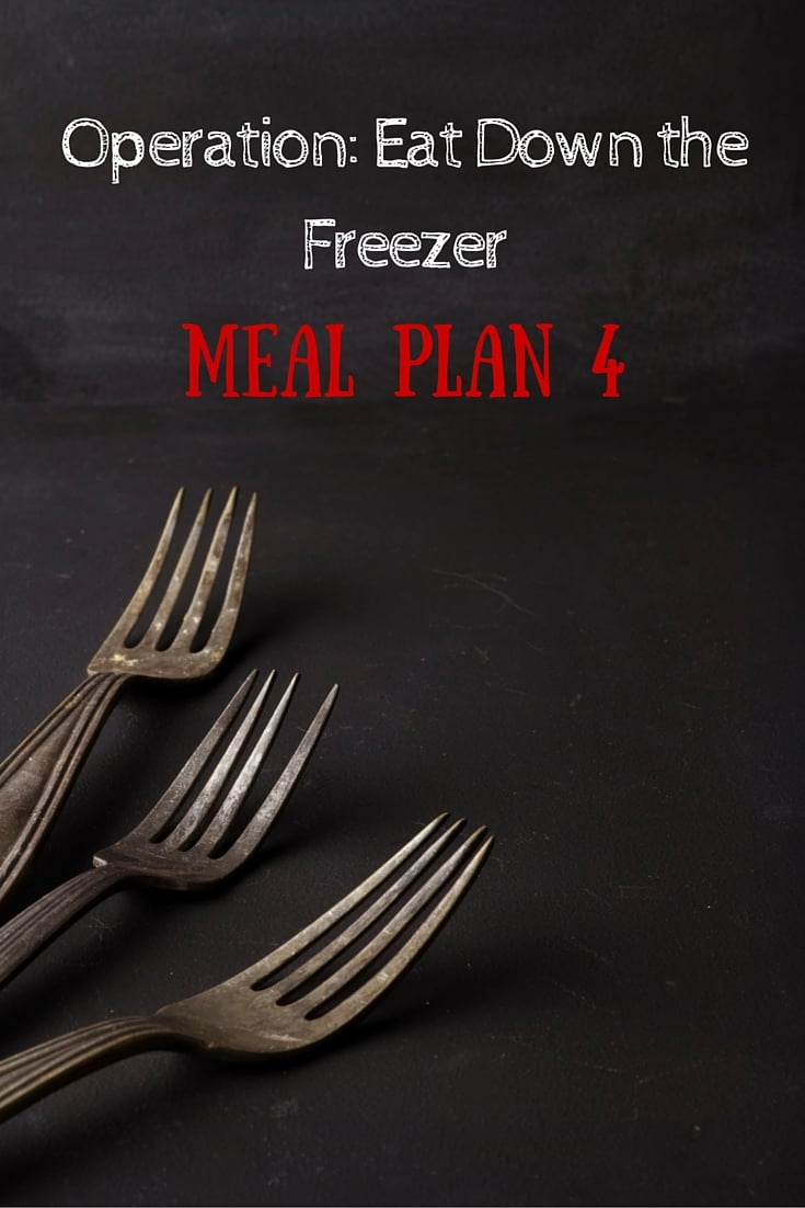 Operation- Eat Down the Freezer Meal Plan 4