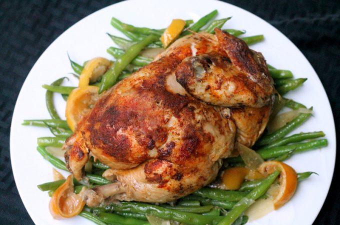 Slow Cooker Lemon Ginger Roast Chicken