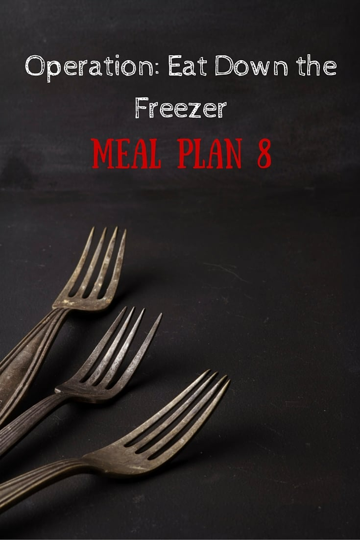 Operation: Eat Down the Freezer Meal Plan 8