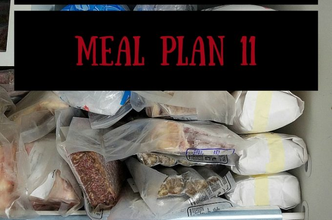 Operation: Eat Down the Freezer - Meal Plan 11