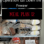 Operation: Eat Down the Freezer Meal Plan 12
