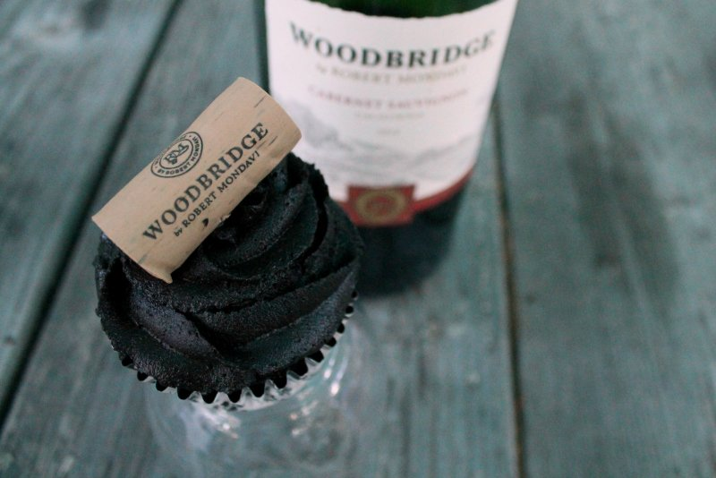 Death by Chocolate Cherry Cupcakes with Woodbridge by Robert Mondavi 2