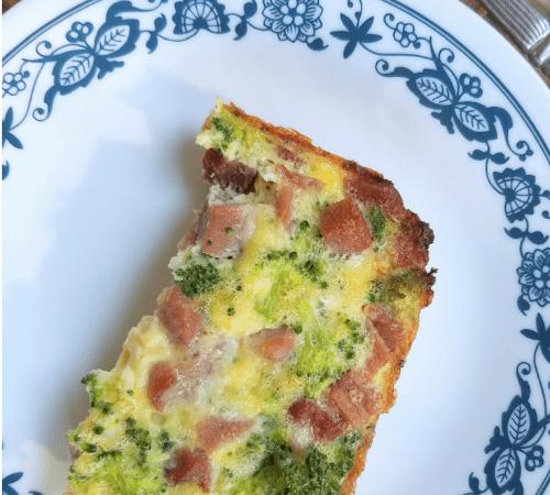 Ham and Broccoli Egg Bake