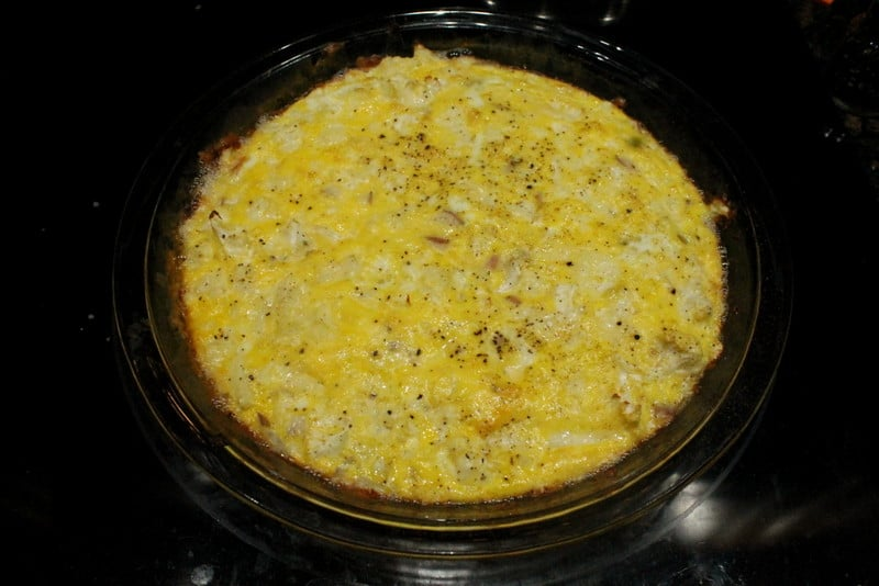 Cheesy Cauliflower Egg Bake Breakfast 4