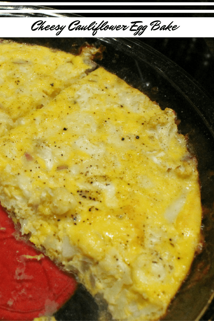 Cheesy Cauliflower Egg Bake Breakfast