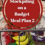 Building a Stockpile Meal Plan 2