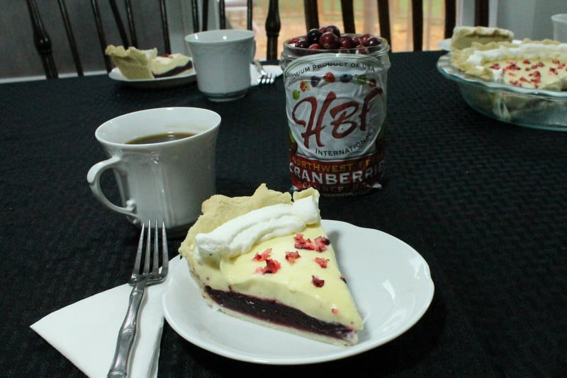 White Chocolate Cranberry Pie