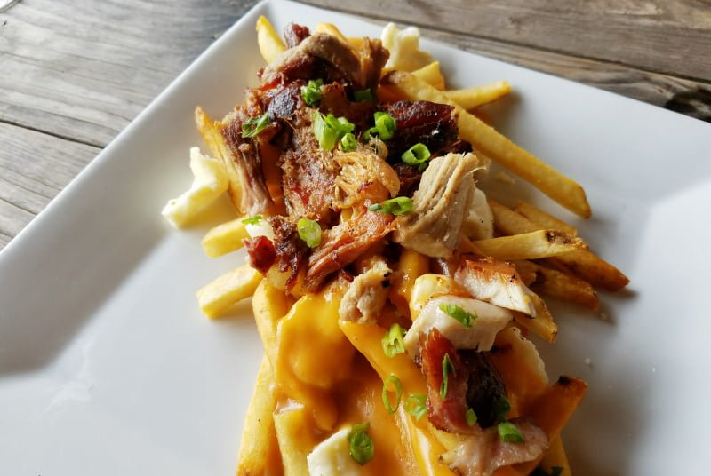 Nail Creek Pub and Brewery Smoked Pork Poutine