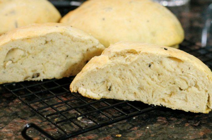 Roasted Mushroom Cheddar Bread
