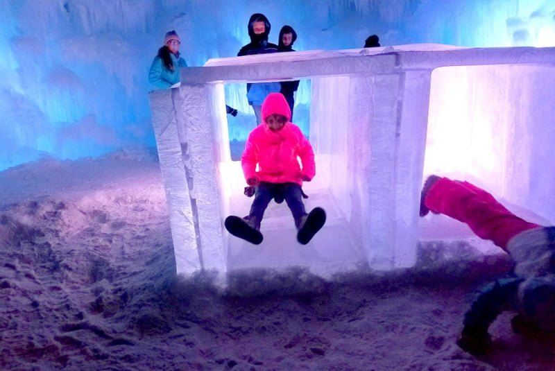 Tunnel Slide Ice Castles Lincoln New Hampshire