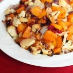Spicy Sweet Roasted Butternut Squash and Cauliflower