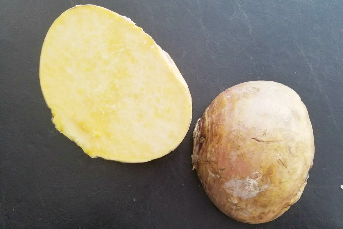 rutabaga cut open