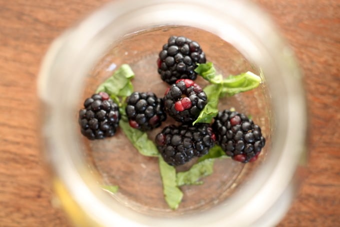 How to Make Blackberry Basil Flavored Water