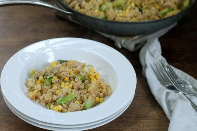 Chicken, Asparagus, and Corn Quinoa Bowl Recipe