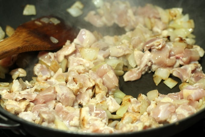 Chicken and Onion Cooking