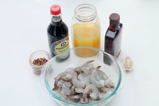 Ingredients for Tropical Shrimp and Pineapple Kebab Recipe