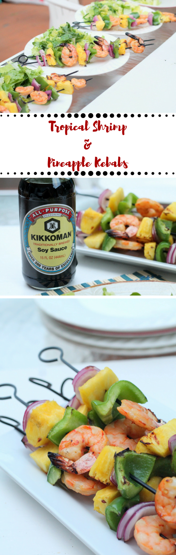 Tropical Shrimp and Pineapple Kebabs - make an easy summer entertaining grilling recipe for parties or weeknight meals