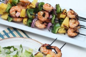 Tropical Shrimp and Pineapple Kebabs