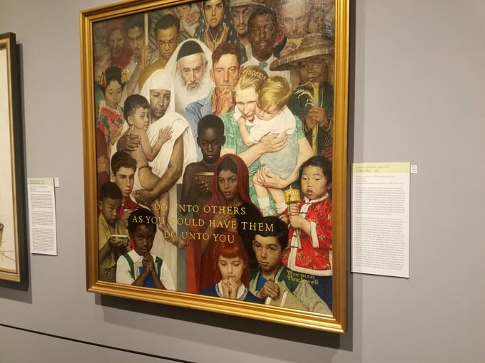 Norman Rockwell Museum Golden Rule Artwork