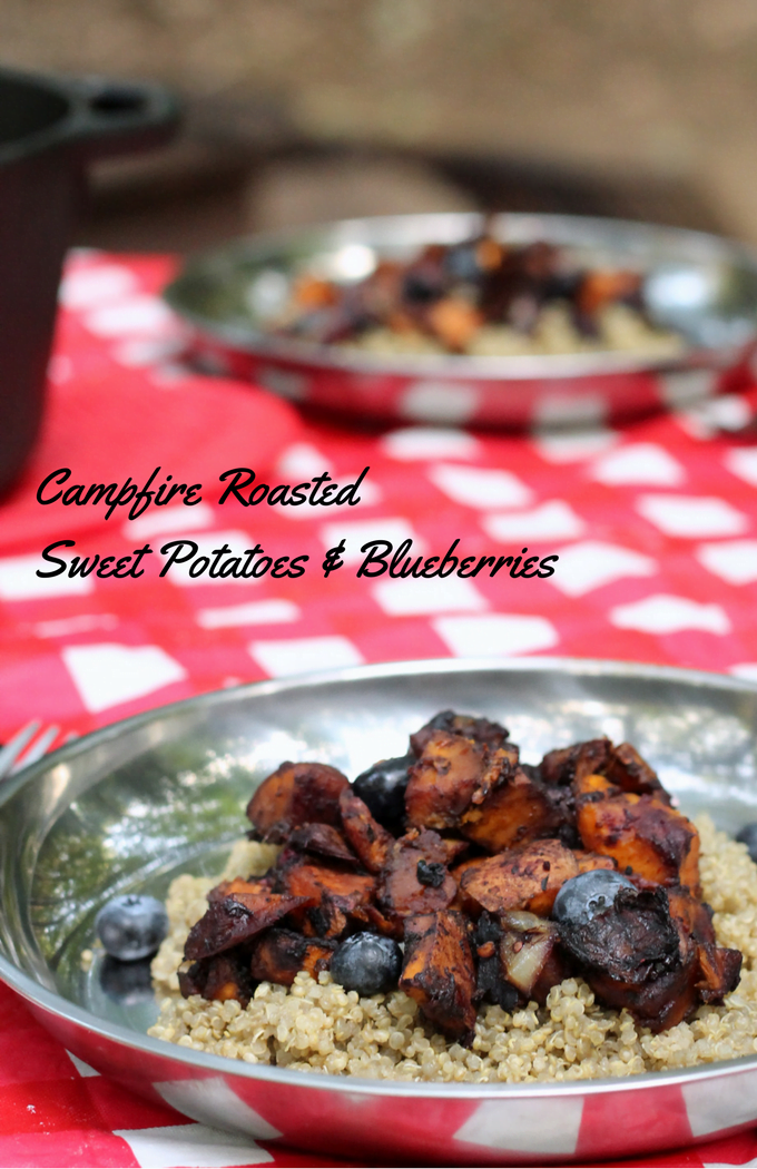 Campfire Roasted Sweet Potatoes and Blueberries Recipe