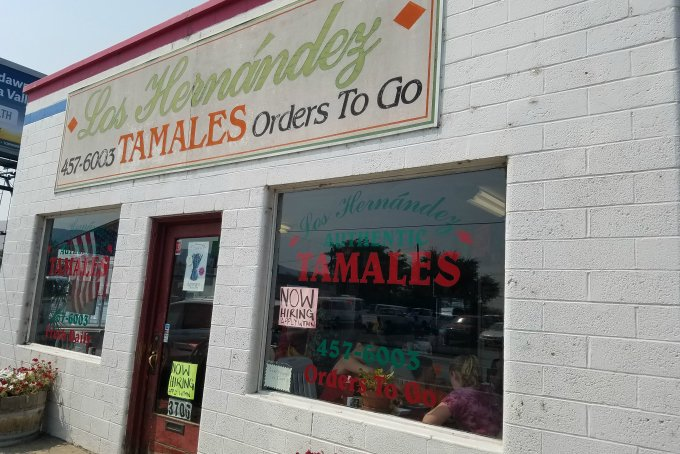Los Hernández tamales union gap wa storefront