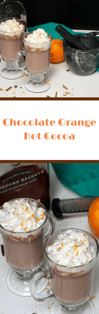 Chocolate Orange Hot Cocoa Recipe - decadent gourmet hot cocoa recipe that can be kid-friendly or bourbon added for adults