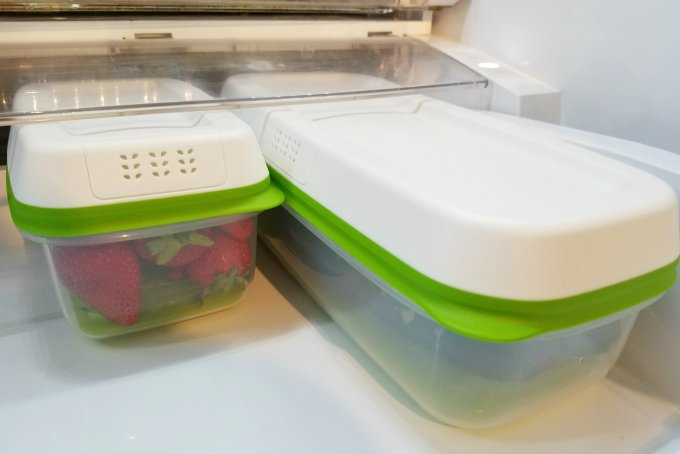 Rubbermaid FreshWorks Produce Savers with strawberries