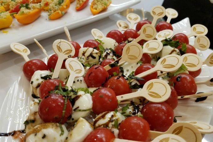 mucci farms tomatoes, fresh mozzarella, basil
