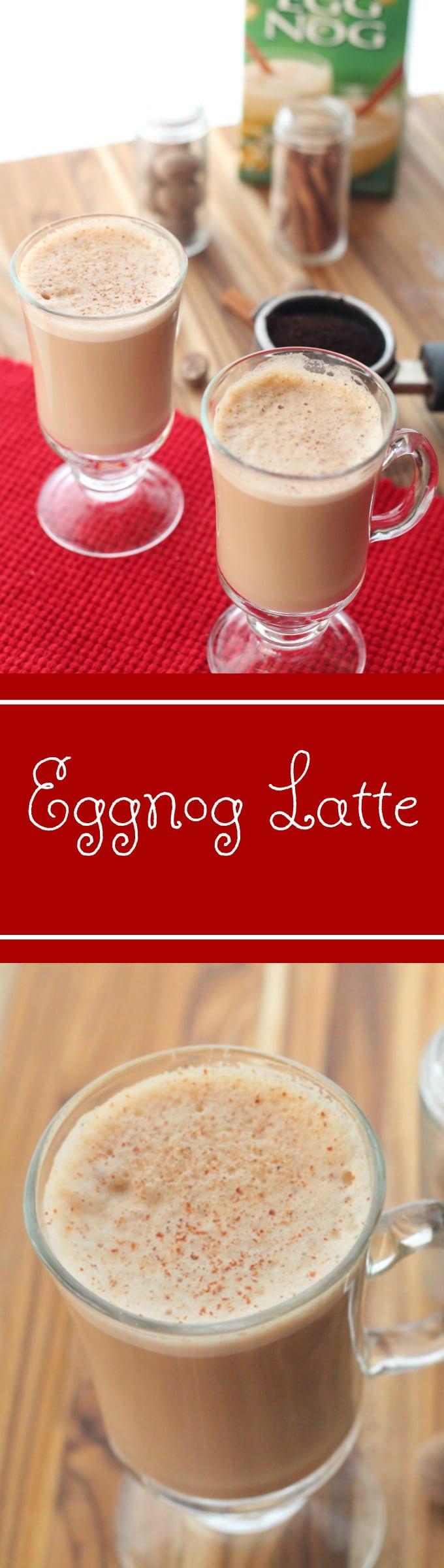 Starbucks copycat eggnog latte recipe. Homemade eggnog latte recipe that is easy and delicious. Plus it saves a little money.