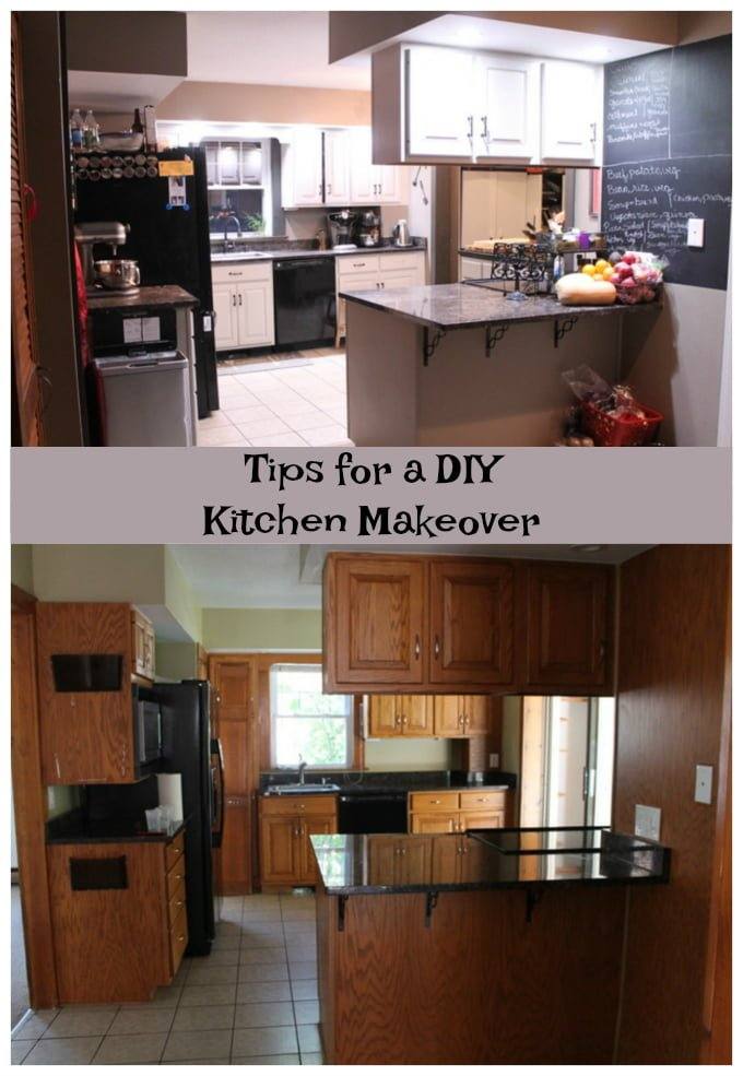Tips DIY Kitchen Makeover Before After