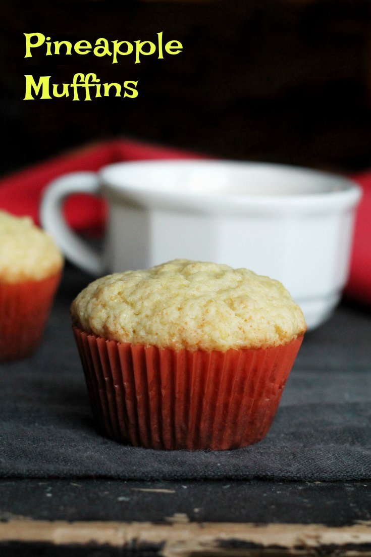 Pineapple Muffin Recipe - these dairy-free muffins are perfect for easy breakfasts on the go.