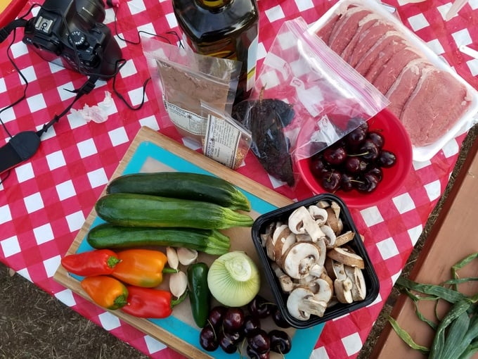 Family Road Trip NH to WA Fresh Produce Camp Meals