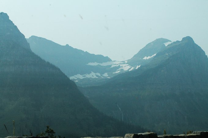 Glacier National Park snow on mountain