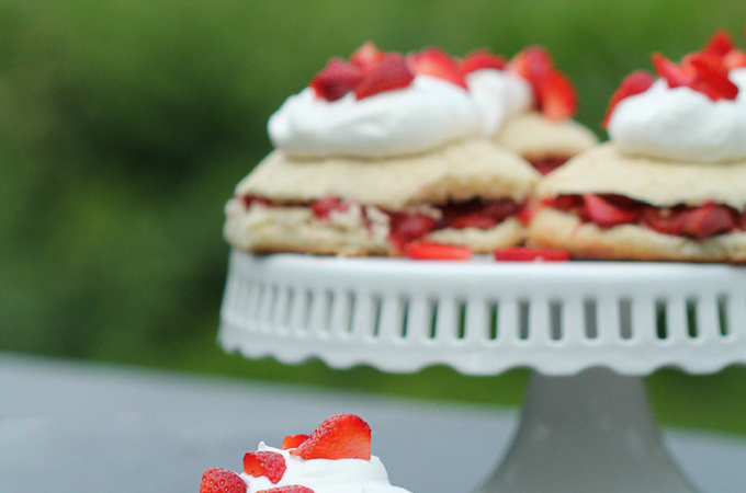 Honey Roasted Strawberry Rhubarb Shortcake