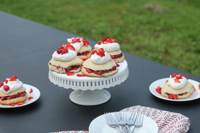 Honey Roasted Strawberry Rhubarb Shortcake