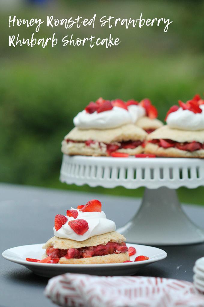 Honey Roasted Strawberry Rhubarb Shortcake Recipe