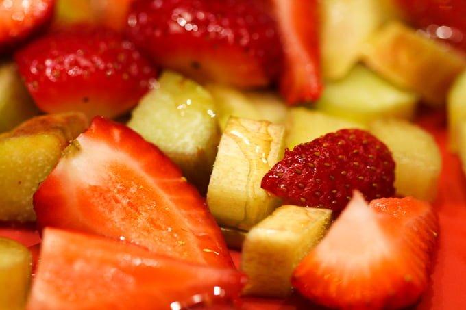Strawberry Rhubarb with Honey