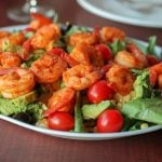 Garlic Sriracha Shrimp Dinner Salad