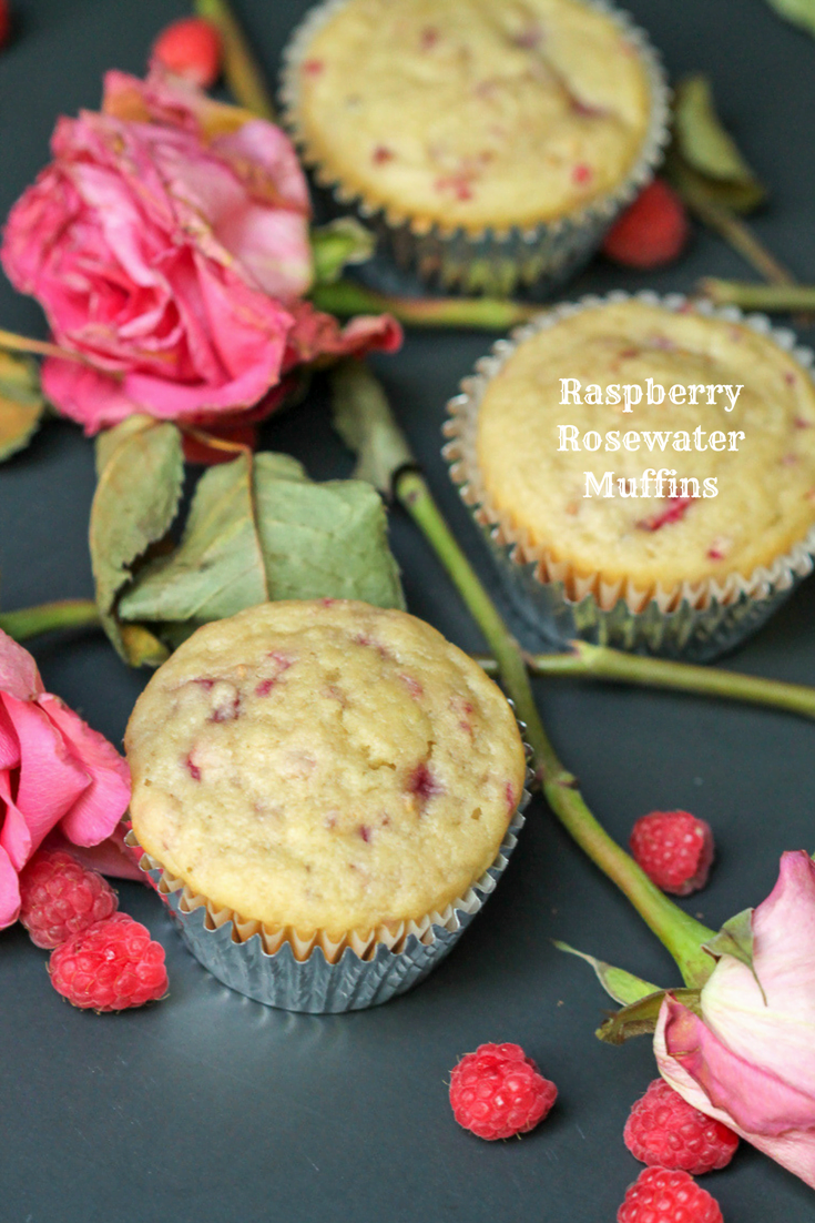 Easy muffin recipes are a must to have on hand, especially if you want to make-ahead and freezer easy breakfast recipes. This isn't your ordinary muffin recipe. Simple additions of mashed raspberries and rosewater make them special.