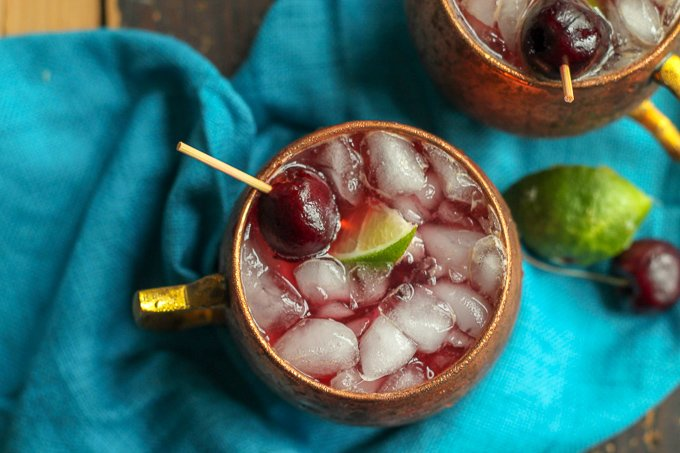 Bourbon Cherry Limeade Recipe
