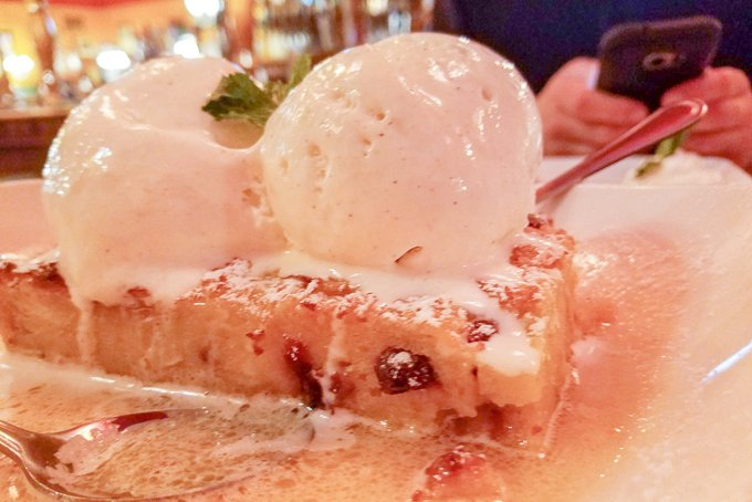 Park Lane Tavern Fredericksburg Virginia Bread Pudding