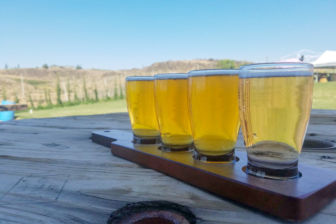 Cowiche Creek Brewing Company Flight