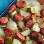 Smoked Sausage and Pepper Potato Bake