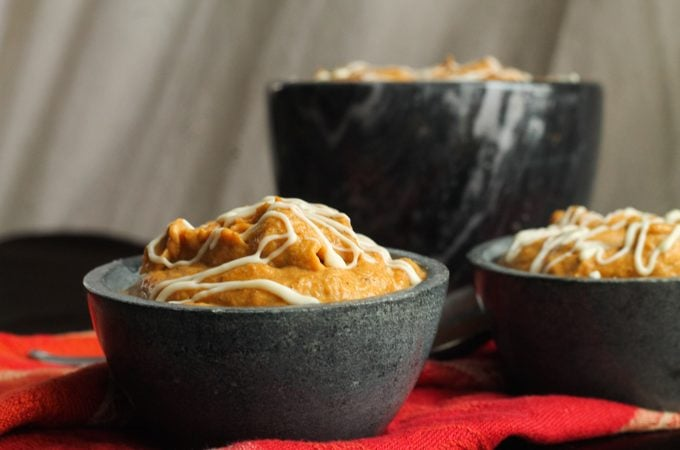 White Chocolate Pumpkin Mousse