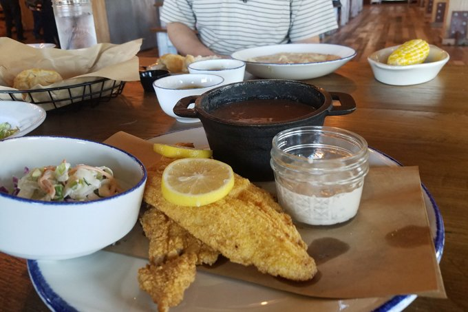 Fried Catfish Five Oaks Farm Kitchen Sevierville TN